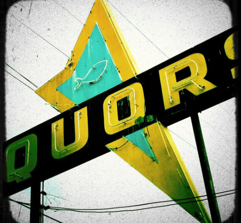 Liquor Fish sign